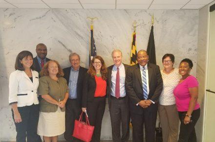 Picture of Senator Van Hollen with local jurisdictions and CDN members