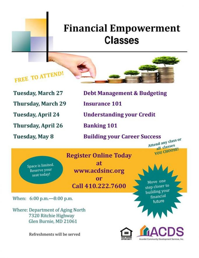 Financial Empowerment Spring Classes 2018