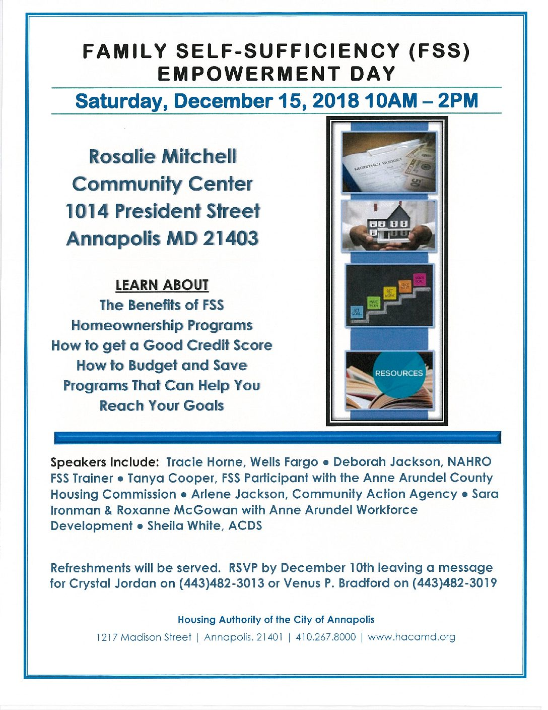 Family Self-Sufficiency Empowerment Day - Arundel Community