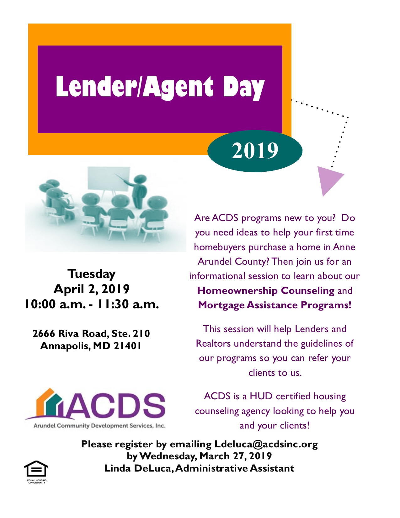 Lender Agent Day Arundel Community Development Services Inc
